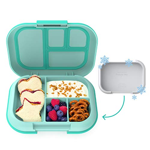 Bentgo Kids Chill Lunch Box - Bento-Style Lunch Solution with 4 Compartments and Removable Ice Pack...