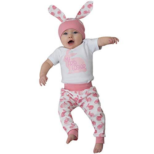 Ostern Baby Kleidung Set My First Easter Neugeborenes Mädchen Jungen Cartoon Erste Ostern 9D Bunny Outfits Romper + Bunny Pants + Rabbit Hut Set Mein erstes Ostern Babybekleidung