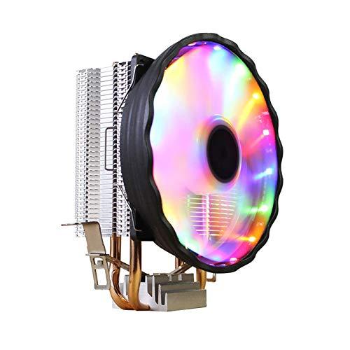 lizeyu Ventilador de enfriamiento de la CPU de la luz colorida 775AMD1155 del refrigerador de la CPU del tubo de cobre 12CM2
