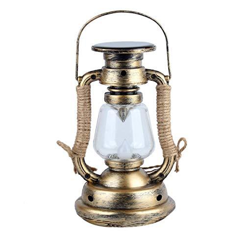 Modonghua - Lámpara solar retro de huracán con lámpara de aceite LED antigua, lámpara de mineros, lámpara colgante tradicional para jardín, campaña, árbol de campaña