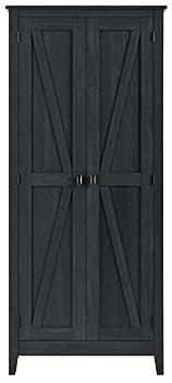 SystemBuild Farmington 31.5  Wide Storage Cabinet Black Oak