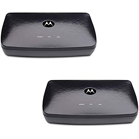 Motorola MoCA Adapter for Ethernet Over Coax, Plug and Play, Ultra Fast Speeds, Boost Home Network for Better Streaming and Gaming (1 Gbps (2 Pack))