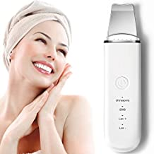 Ultrasonic Skin Scrubber Face Spatula, JOMARTO Blackhead Remover Pore Cleaner, Facial Scrubber Spatula, Exfoliator Rechargeable Face Lifting Tool With 4 Modes for Deep Cleansing
