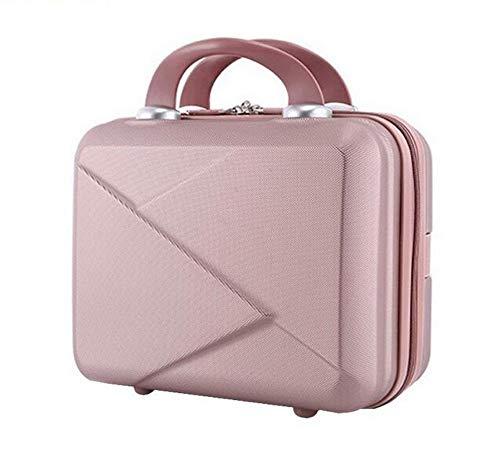 FIFY Kosmetiketui Kulturbeutel Hochwertige Mode Licht Koffer 14 Zoll Mini Reißverschluss Dame Business ABS Kosmetiktasche Koffer für Make-Up Taschen Kulturbeutel