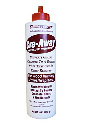 ChimneySaver Cre-Away Creosote Modifier (16 Oz Squeeze Bottle) - The Original Creosote Remover for Chimneys, Wood Stove Cleaner, Wood Burning Fireplace