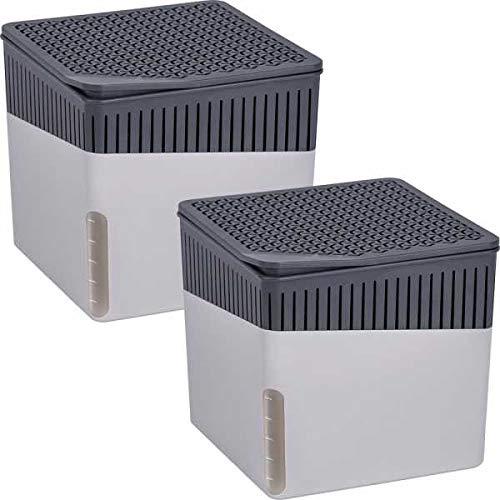 Wenko 69381800 Raumentfeuchter Cube Grau 1000 g, 2er Set