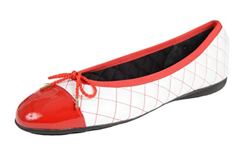 Paul Mayer Attitudes Women's Best/Brighton 8 1/2B Red Toe, White and Red Back