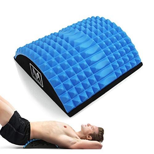 BAITENG succión AsistenteAbdominal Mat Core Trainer Massaging Spikes for Full Range of Motion AB Sit-up Workouts & Back Stretcher,Blue