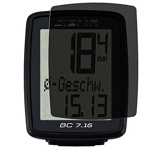 Vaxson TPU Pellicola Privacy, compatibile con SIGMA BC 7.16 Wired Bicycle Computer, Screen Protector Film Filtro Privacy [Non Vetro Temperato Cover Custodia ]