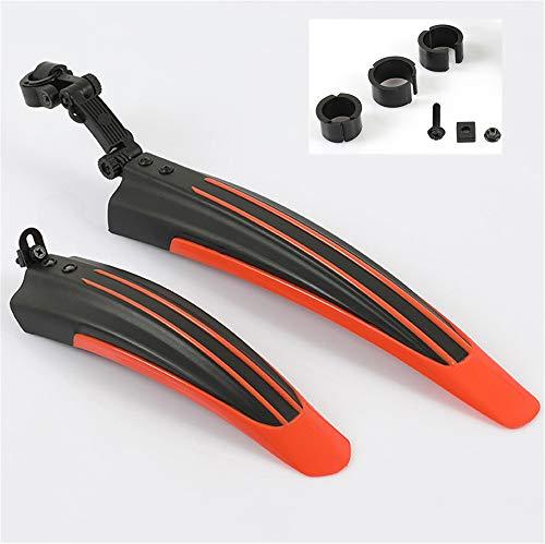 Fahrrad Schutzblech, Schutzblech Set für Vorder- und Hinterreifen Kotflügel für 24-26 MTB, Trekkingrad und Fahrrad (Orange)