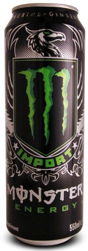 Monster Energy Drink, Import Cans, 18.6 Fl Oz (Pack of 8)