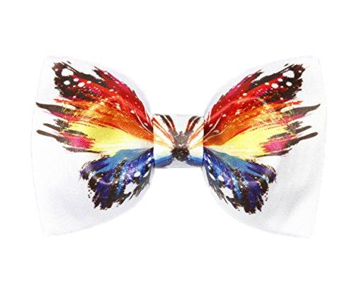 Cloud Rack PeintsLa Main L'Impression Textile Retro Noeud Papillon (Rouge Jaune Bleu)
