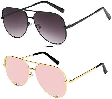 SORVINO Aviator Sunglasses for Women Classic Oversized Sun Glasses UV400 Protection 2Pack Black product image
