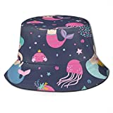 DUTRIX Sombreros de Cubo Transpirables con Parte Superior Plana Unisex Hello Summer Time Bucket Hat Summer Fisherman Hat-Green Tropical Palm-One Size