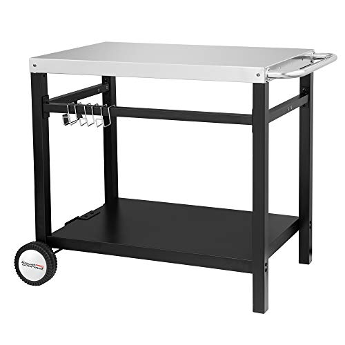 Royal Gourmet Double-Shelf Movable Dining Cart...