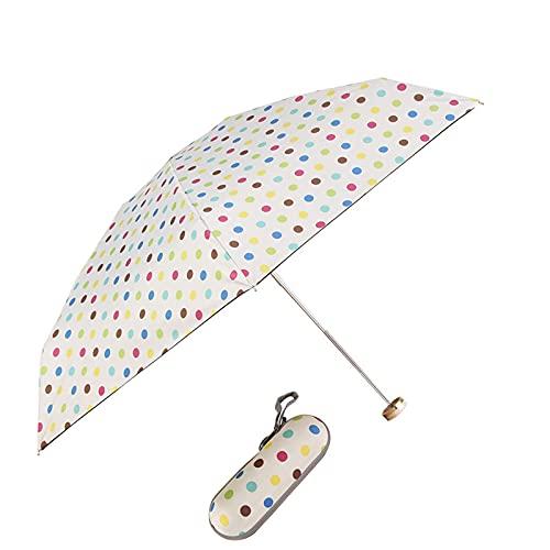 JIETAOMY Ombrello Pieghevole Pocket Mini Ombrello Pioggia Donne Antivento Durable Pieghevole Pieghevole ombrelloni Portatile Sunscreen Parasole da Solare Ombrello (Color : C)