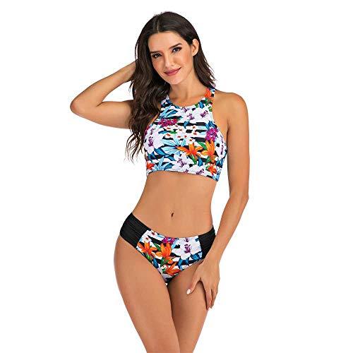 Nobrand Conjunto de Bikini de triángulo Dividido con Chaleco Deportivo Europeo y Americano