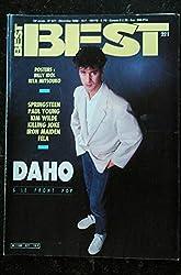 BEST 221 DECEMBRE 1986 COVER ETIENNE DAHO KIM WILDE SPRINGSTEEN IRON MAIDEN FELA POSTERS BILLY IDOL RITA MITSOUKO