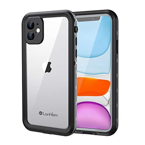 Lanhiem Funda Impermeable iPhone 11, Carcasa Sumergible Resistente Al Agua IP68 Certificado [Protección de 360 Grados], Carcasa para iPhone 11 con Protector de Pantalla Incorporado