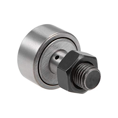 uxcell CF12 Cam Follower KR30 Needle Roller Bearing, 30mm Roller Diameter, 14mm Roller Width, M12 Standard Stud