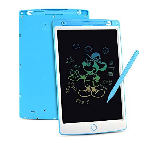 Upgrow LCD Writing Tablet, 10 Zoll LCD-Schreibtafeln mit Bunter Schrift, Grafiktabletts Schreibplatte Digital Schreibtafel Papierlos Maltafel für Kinder Schule Graffitik Malen Notizen (Blau+Weiß)