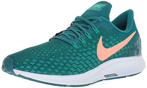 Nike Men's Air Zoom Pegasus 35 Running Shoe Geode Teal/Bright Mango/Clear Emerald 12 Medium US