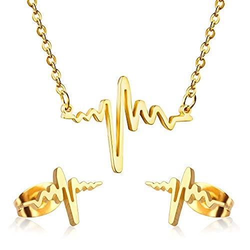 HMANE Conjuntos de joyería Africana de Dubai de Boda Irregular de Oro, Conjunto de Pendientes de Collar para joyería de Mujer