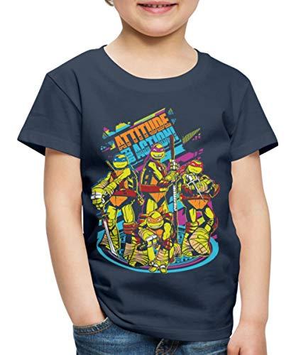 TMNT Turtles Attitude for Action Kinder Premium T-Shirt, 110-116, Navy