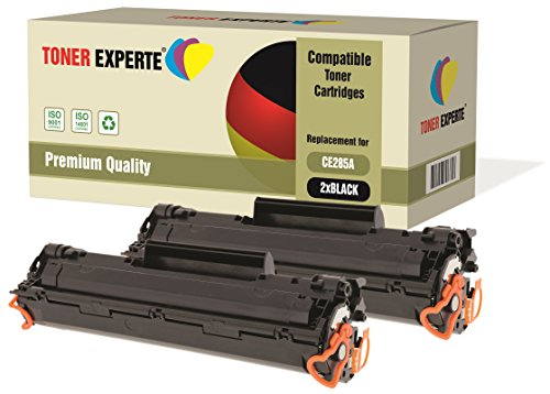 Kit 2 TONER EXPERTE® CE285A 85A Toner compatibili per HP Laserjet Pro P1102 P1102W M1210 M1212 M1212NF M1213NF M1217NFW M1130 M1132 M1134 M1136 P1100 P1101 P1103 P1104 P1104W P1106 P1108