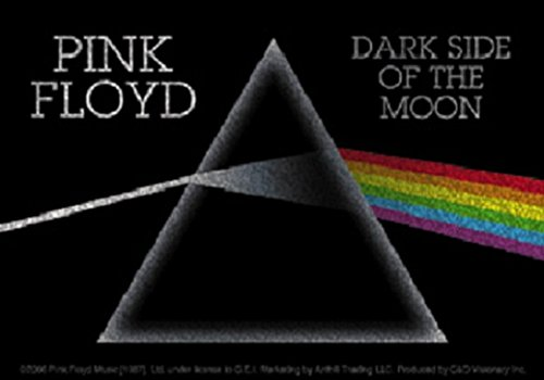 CDS Pink Floyd Glitzer Aufkleber Sticker Dark Sideof The Moon Musik Rock Band The Wall Psychedelic Space Rock Syd Barrerr Roger Waters