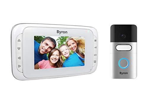 Visiophone sans fil Byron – Ecran portable 4,3 pouces – Portée 200 m en champ libre -Batteries rechargeables