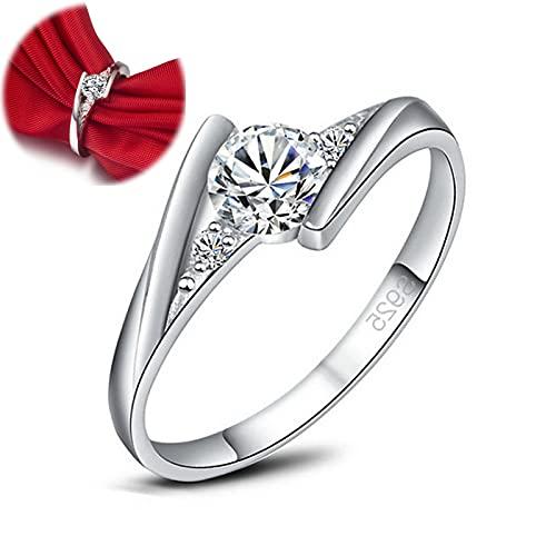 women's silver ring bridal zircon diamond elegant engagement,men women unisex crystal wedding engagement ring silver plated ,fashion jewelry genuine women's 925 sterling silver ring