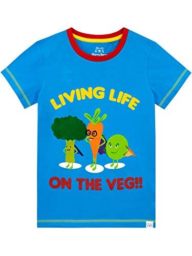 Harry Bear Camiseta de Manga Corta para niños Verduras Azul 5-6 Años