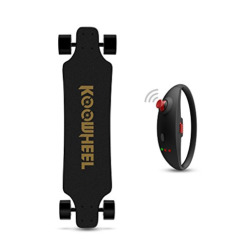 KOOWHEEL Elektro Longboard E Skateboard Sports Max Geschwindigkeit 40km/h D3M 2nd Generation Komplettboard modisches Design,Schwarz