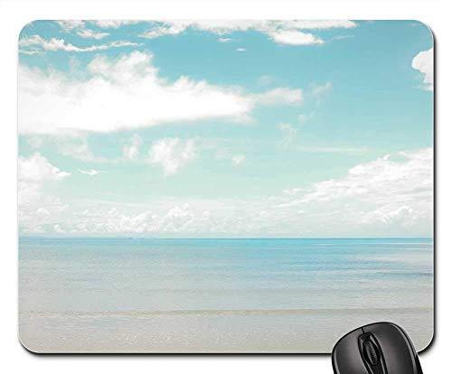 Yanteng Alfombrillas de ratón para Juegos, Alfombrilla de ratón, Paisaje de Playa en el Cielo Marino de Sea Sky Dog, Horizonte al Aire Libre