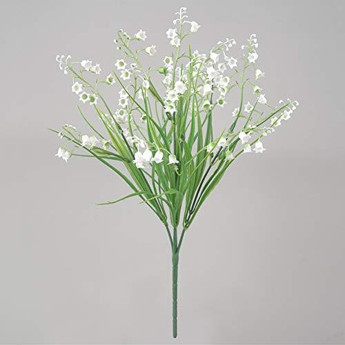 Kslogin - Tenedores para ceremonia, hierba, muguet flor Lys del Vallée, simulación, campanula, orquídea, habitación,...