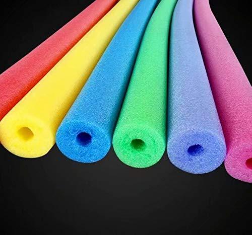 Churro hueco de natación hecho de espuma, ideal para natación, rehabilitación, palo de flotador, juguete para niños (rojo)