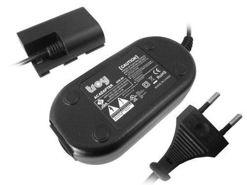 troy ACKE6-FULLDEC Netzteil-Adapter für Canon EOS 70D, EOS70D, EOS 80D, EOS 6D 7D Mark II EOS 60D baugleich ACK-E6 Full Decodiert schwarz