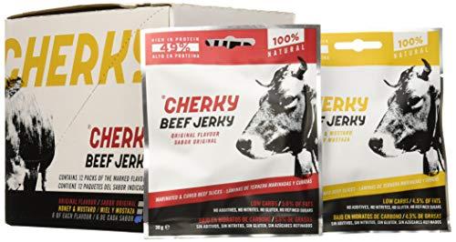 Cherky Beef Jerky Selección 30g - 12 unidades