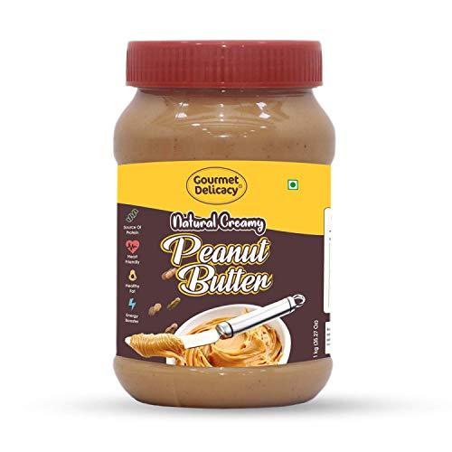 Gourmet Delicacy All Natural Creamy Peanut Butter (Gultenn Free Vegan) 1 Kg