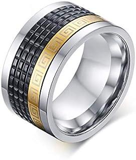 مجوهرات الذهب خاتم الرجال الفولاذ المقاوم للصدأ البوب الدوارة غرفة الفولاذ الأسود