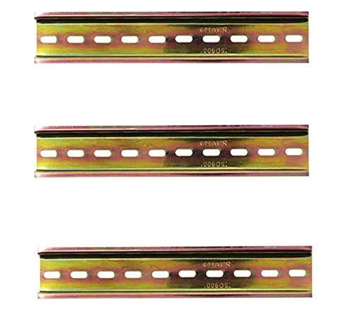 DIN Montageschiene,Tianher 6 Stück DIN Schiene für Geschlitzt Design Metall Verteilerschrank Schaltschrank Einbau Schienenmontage und Schütz Lang 200mm 35mm Breit 7,5mm Hoch.
