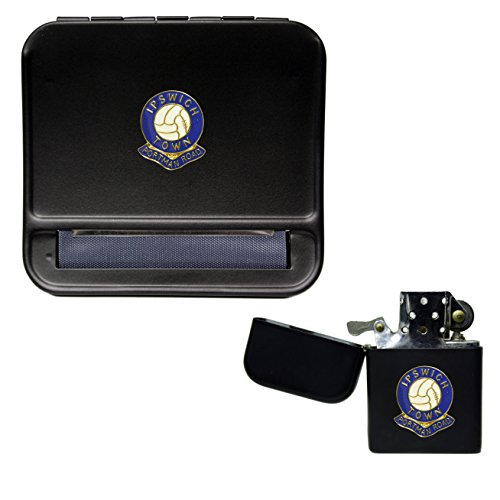 Ipswich Town Football Club Cigarette Rolling Machine and storproof Petrol Lighter