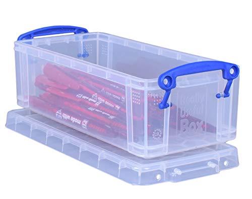 Really Useful Box Aufbewahrungsbox 0,90 Liter, transparen