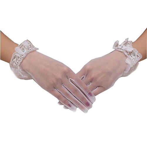 Gants de dentelle courte Gants de mariée mariage Gants de dentelle