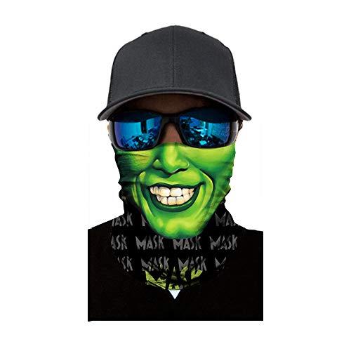 Lulupi Unisex Multifunktionstuch Gesichtsmaske Damen Halstuch Bedruckte Schlauchtuch,Herren Outdoor Sport Schlauchschal Bandana Staubschutz Atmungsaktiv Mund-Tuch Motorradmaske