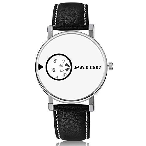 DAZHE Relojes Militares Relojes de Pulsera de cuar PAIDU Reloj de Cuero para Hombre, Reloj de Navidad. (Color : 1)