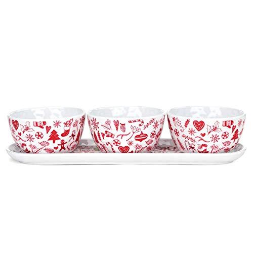 Michel Design Works Melamine Serveware Condiment Set (Ho Ho Ho)