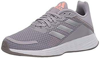 adidas unisex child Duramo Sl Running Shoe Glory Grey/Silver Metallic/Light Flash Orange 3 Little Kid US