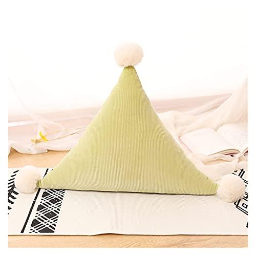 Homelus LINLIN - Almohada de peluche con forma de corazón y estrella suave y colorida, cojín de luna para niños, regalo para niñas, decoración de habitación de bebé, color verde